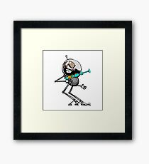 Space Aaron Robot Framed Print