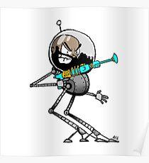 Space Aaron Robot Poster