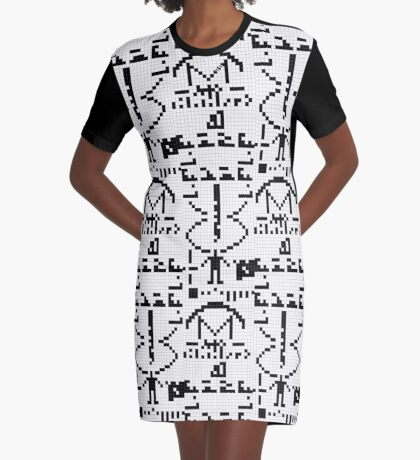 Arecibo Message 001 Graphic T-Shirt Dress