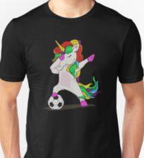 738f5deb1 Dabbing Unicorn Soccer Player Short Unisex T-Shirt