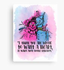 Wizard of Oz T-Shirt Tinman & Scarecrow Metal Print