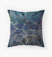 Kiwi, Bats, Morepork and More Throw Pillow
