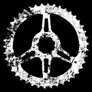 Bike chainring peace sign by monsterplanet