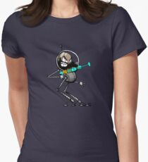 Space Aaron Robot Women's Fitted T-Shirt