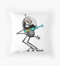 Space Aaron Robot Throw Pillow