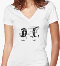 Bladerunner Movie Parody Graphic Women's Fitted V-Neck T-Shirt