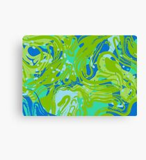 psychedelic marble Canvas Print