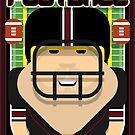 American Football Black and Maroon - Enzone Puntfumbler - Sven version by boxedspaper