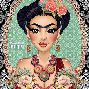 "Frida Kahlo ""Against all Odds"" by CherryMartini"