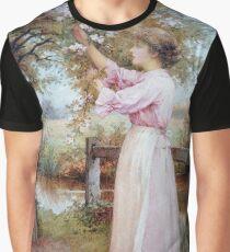 Vintage Charles Edward Wilson - Apple Blossoms 1900 Fine Art Graphic T-Shirt