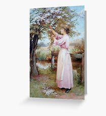 Vintage Charles Edward Wilson - Apple Blossoms 1900 Fine Art Greeting Card