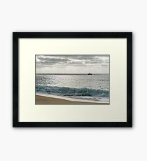 Fishing Boat on the Silver Seas  Framed Print