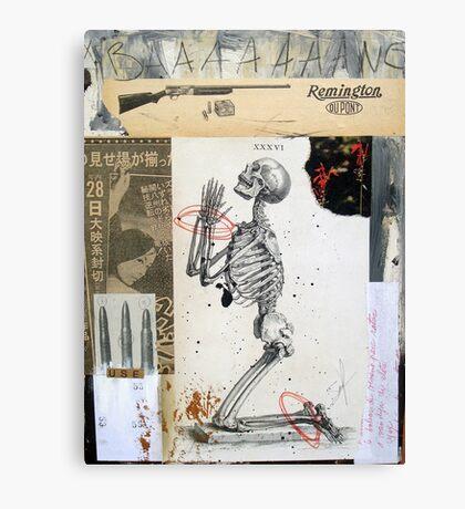 36 BALAS (36 bullets ) Canvas Print