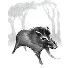 Wild Boar At Bay by Patricia Howitt