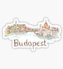 Budapest Panorama at night Sticker
