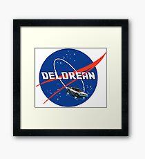 Back to the Future - DeLorean + Nasa Logo Framed Print
