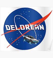 Back to the Future - DeLorean + Nasa Logo Poster