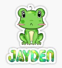 Jayden Frog Sticker