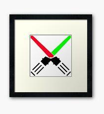 laser saber Framed Print