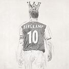 Pencil sketch Bergkamp by Mark White