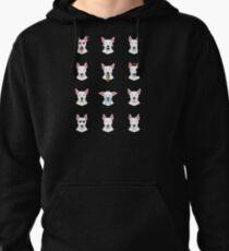 Bull Terrier Emoji Pullover Hoodie