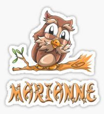 Marianne Owl Sticker