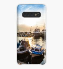 fishing boats in port of Sozopol at sunset Case/Skin for Samsung Galaxy