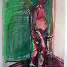 Untitled Naked Standing Man by Rina Miriam  Drescher