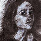 Kirsten Charcoal Portrait by DreddArt