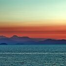 Sunset over Lake Taupo, New Zealand by Guylty