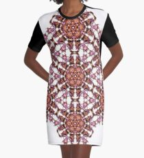 trippy geometric star design Graphic T-Shirt Dress