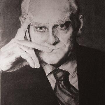Alberto Moravia by zaxart