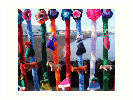 Yarn bomb Christmas Stocking style by chihuahuashower