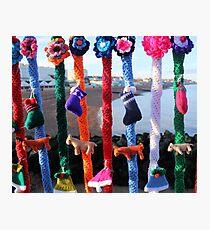 Yarn bomb Photographic Print