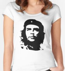 Banksy Print Che Guevara Women's Fitted Scoop T-Shirt