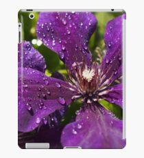Dew Drops on Purple Flowers iPad Case/Skin