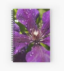 Dew Drops on Purple Flowers Spiral Notebook