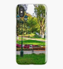 City lights in the park iPhone Case/Skin