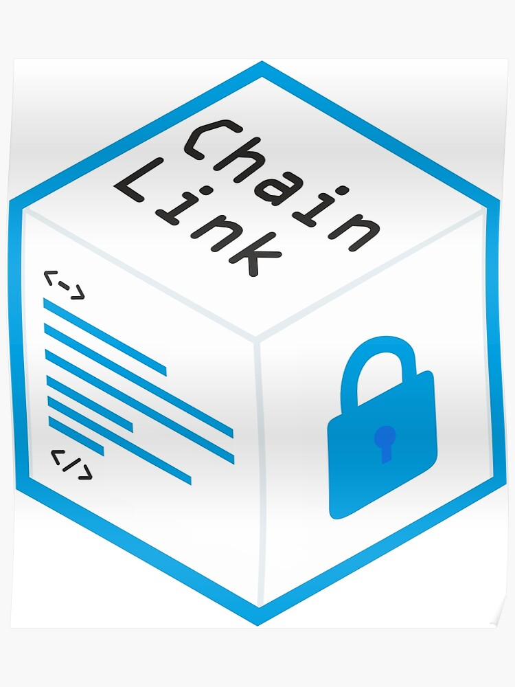 Chainlink Logo Crypto Oracle | Poster