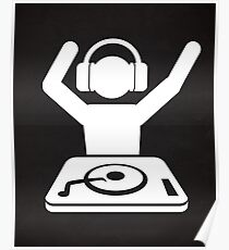 DJ Hands In The Air Poster