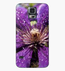 Dew Drops on Purple Flower Case/Skin for Samsung Galaxy