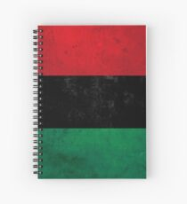 Distressed Afro-American / Pan-African / UNIA flag Spiral Notebook