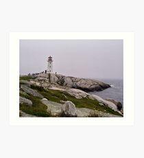 Peggy's Cove Lighthouse Art Print