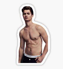 Shirtless Ansel Elgort Sticker