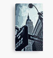 Streets of New York - Broadway view Metal Print