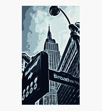 Streets of New York - Broadway view Photographic Print