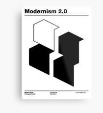 Modernism 2.0 (b) Metal Print
