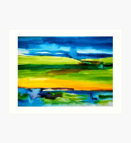 earth & sky Art Print