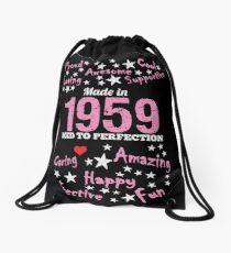 Made In 1959 - Aged To Perfection Drawstring Bag