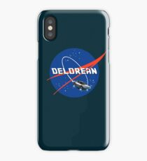Back to the Future - DeLorean + Nasa Logo iPhone Case